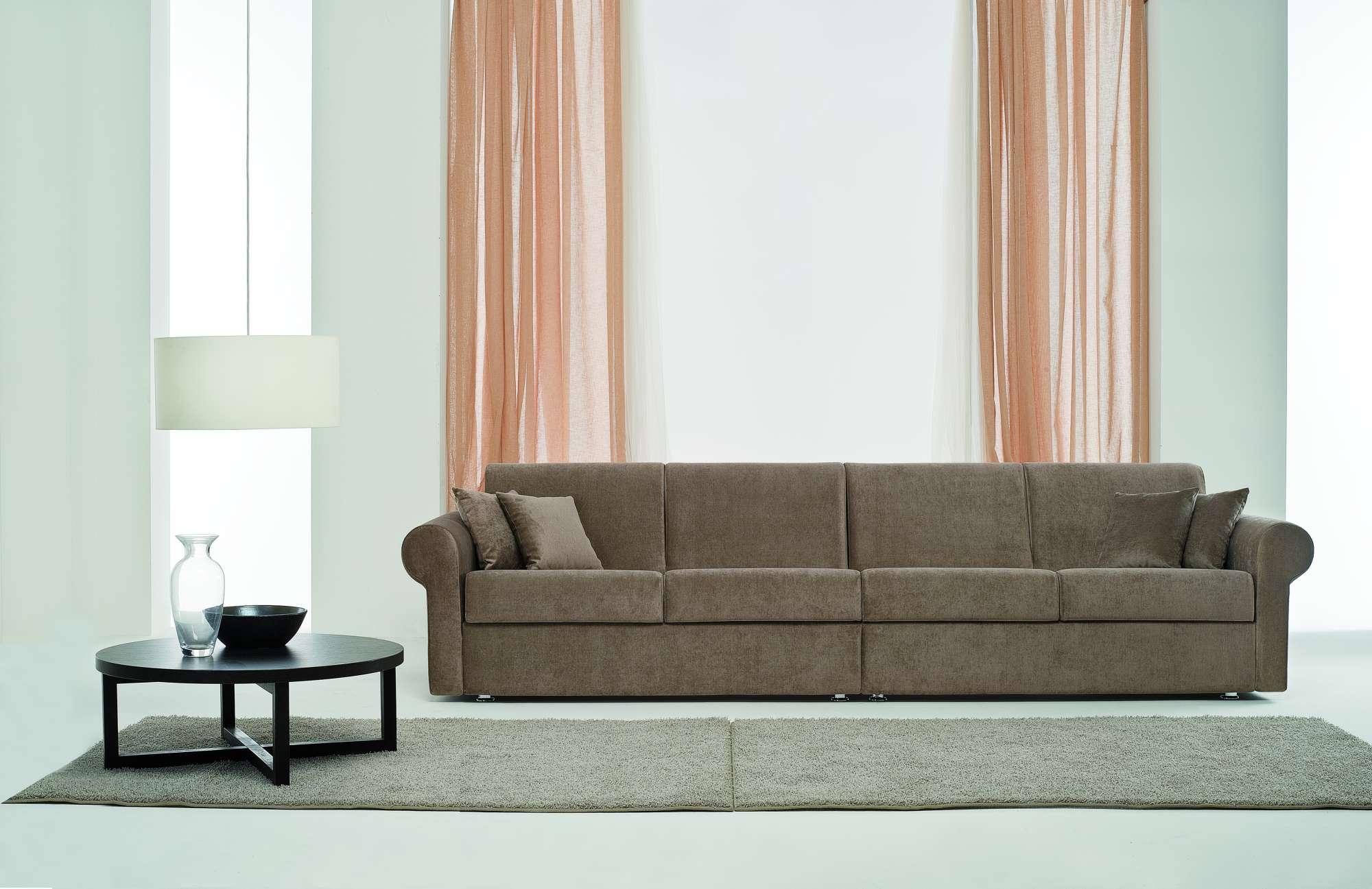 Sinfony divani letto con chaise longue collezione moderni - Cuscini lunghi per letto ...