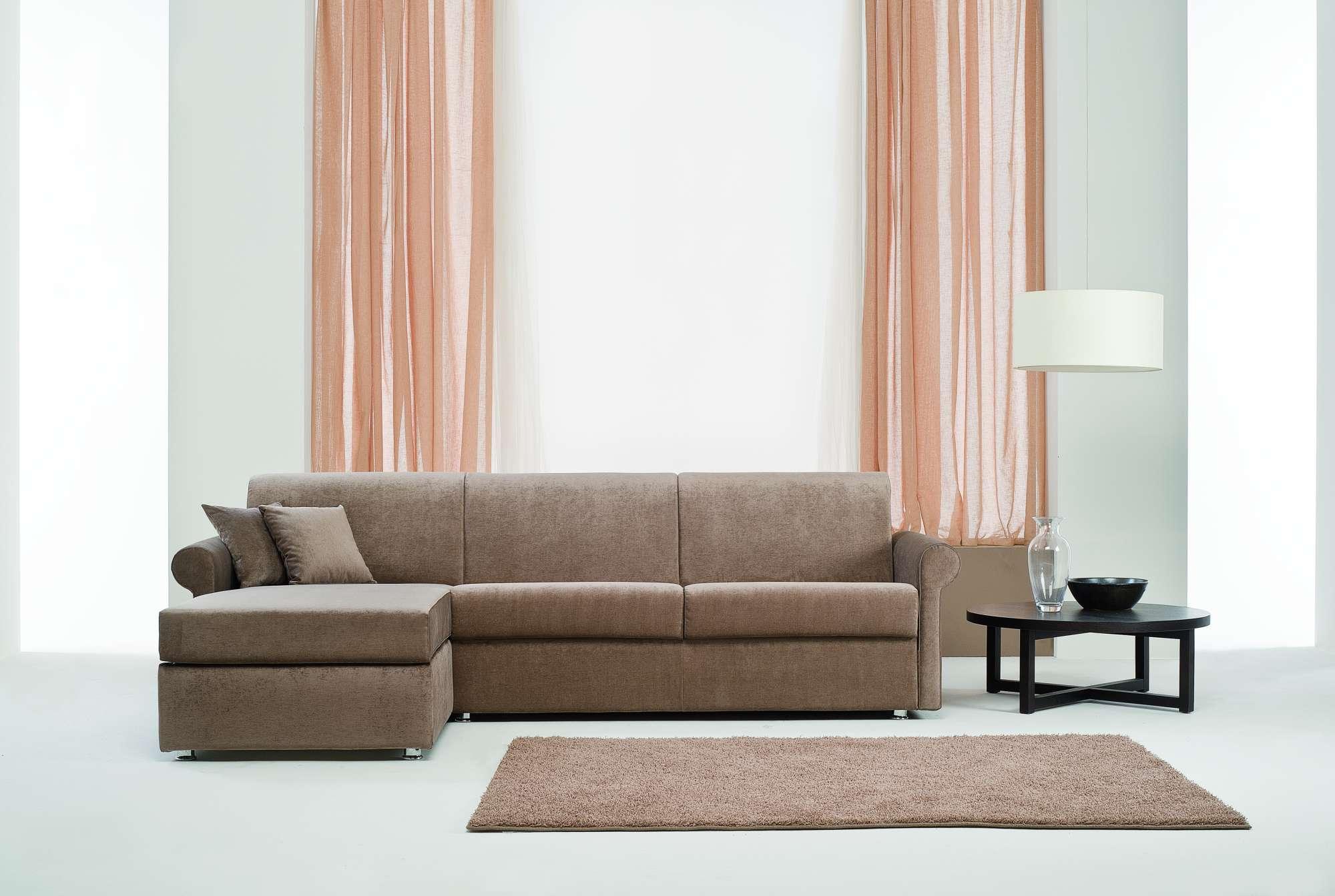 Sinfony divani letto con chaise longue collezione moderni - Divani stretti e lunghi ...