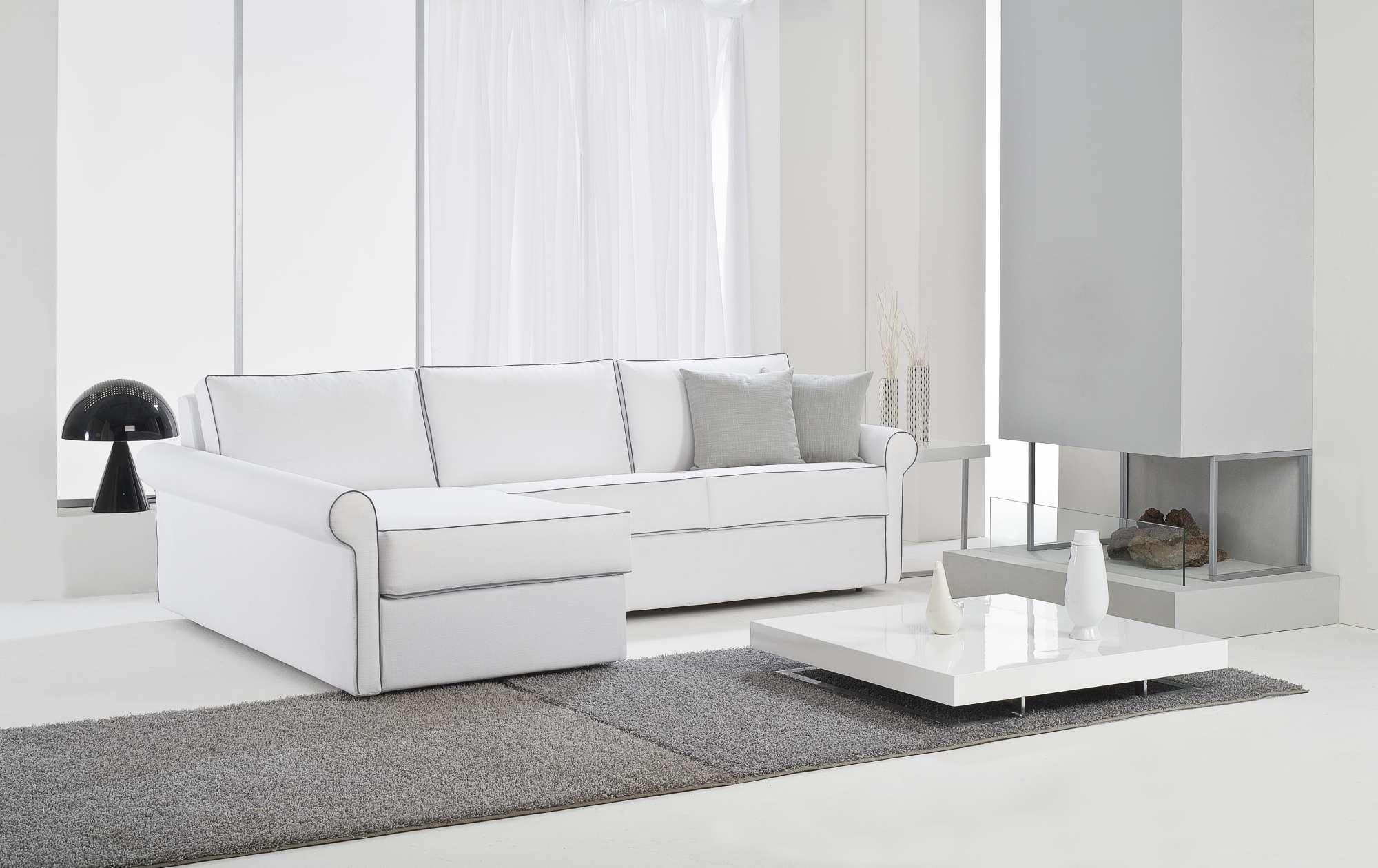 Time divani letto con chaise longue collezione moderni for Divani moderni con chaise longue